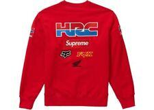 Supreme Honda Fox Racing Crewneck Red Medium 100% Authentic IN HAND