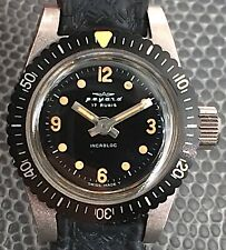Payard Fhf 35 Working Hand Manual 0 15/16in Diver Lady Watch Swiss Vintage