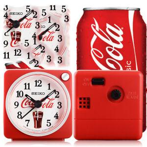 Genuine Seiko new Coca-Cola series silent snooze night light alarm clock QHE905