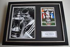 Roger Osborne SIGNED FRAMED Photo Autograph 16x12 display Ipswich Town AFTAL COA