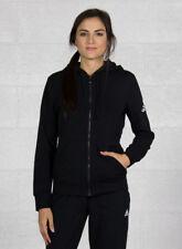 Adidas Donna Sport Giacca con cappuccio Essentials Solid Fullzip Nero/bianco S