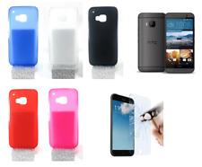 "Funda Carcasa Silicona Gel TPU Para HTC One M9 (4G) 5"" + Protector Opcional"
