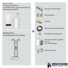Buderus GB172 Komplettpaket mit 14 kW 120 L Speicher und DO Abgassystem