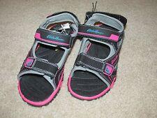 Nwt Eddie Bauer Girls gray/pink/black water shoe sandals w/ straps Size 2