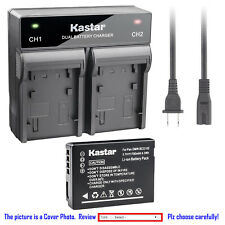 Kastar Battery Dual Rapid Charger for Leica BP-DC7 BC-DC7 & LEICA V-LUX20 Camera
