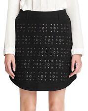 $495 Coach grommet/eyelet holes/studs black Denim short mini Skirt Sz 0-2 S new