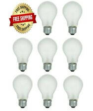 8 Pack 75 Watt Incandescent Light Bulbs 750 Lumens Rough Service Heavy Duty A19