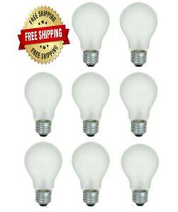 8 Pack 75 Watt Incandescent Light Bulbs 750 Lumens Rough Service Heavy Duty A19