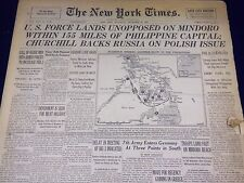 1944 DEC 16 NEW YORK TIMES - U. S FORCE LANDS UNOPPOSED ON MINDORO - NT 1793
