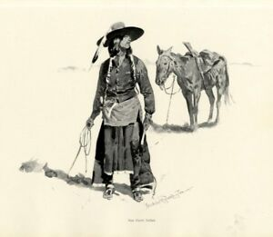 FREDERIC REMINGTON NEZ PERCE INDIAN AND HORSE INDIGENOUS OF PACIFIC NORTHWEST