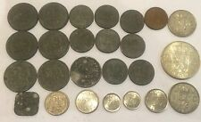 Job Lot Netherlands Coins 7 X 25 Cents 8 X 10 Cents 1941 1942 25 Cents 1944 1g
