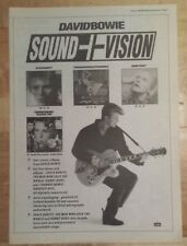 David Bowie Sound & Vision 1990  press advert Full page 27 x 38 cm mini poster A