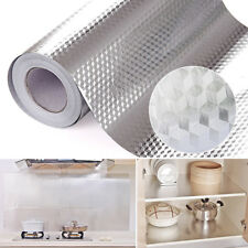 EP_ Aluminum Foil Self Adhesive Waterproof Wallpaper Kitchen Sticker Home Decor