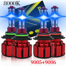 8000k Led Headlights Lights Bulbs For Chevy Silverado 1500 2500hd 3500 1999 2006