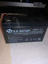 B.B Battery HR9-12 VALVE REGULATED LEAD ACID RECHARGEABLE BATTERY