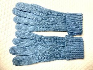 Ralph Lauren Wool Angora Blend Women's Gloves BLUE