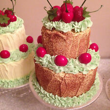 Fake 2 tier artificial handmade cake(any colour combination made)