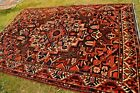 Antique Single Medallion Tribal Rug Cochineal Natural Dye Area Size Kazak Carpet