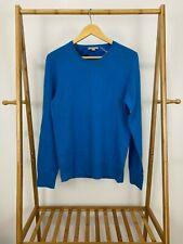 Burberry Brit Women's Cashmere Logo Blue Pullover Soft Sweater Size M