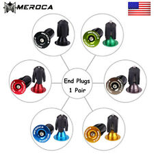 1 Pair Bike Bar Ends Aluminum 22-24mm Lock-on MTB Bicycle Handlebar End Plugs US