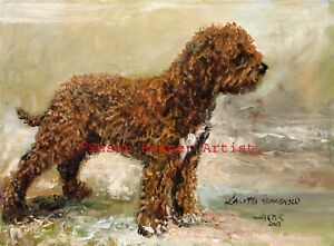 SALE Lagotto Signed Dog Print by Susan Harper Unmounted