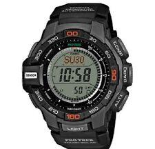 Casio Protrek Triple Sensor Reloj PRG-270-1ER Solar Resina Negra Nueva Caja Y Etiquetas