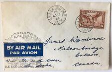 Canada 1st flight cover 1936 Ile a la Crosse to La Loche Sask.