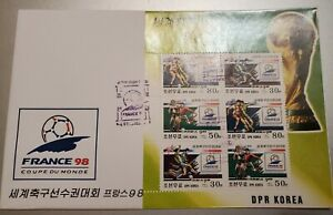 Korea 1998 France '98 World Cup 2v + 2 S/S PERF  Set Of 3 FDC'S  Soccer Sports