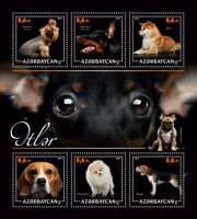 Azerbaijan Dogs Stamps 2017 MNH Beagle Pomerian Doberman Pinscher 6v M/S II