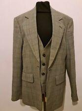 Vivienne Westwood Men's Grey Tartan Waistcoat Jacket. IT SIZE 50