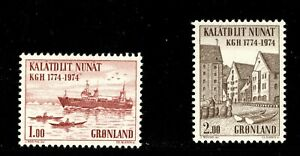 ES-15052 Greenland Ship and Town Scott 98-99 MNH 1974 Complete