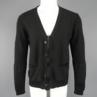 UNDERCOVER Size L / JP3 Black Wool Zip & Button V Neck Cardigan Sweater