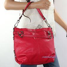 NEW Coach Leather Brooke Hobo Shoulder Bag Satchel Purse Z27744 Red RARE NEW