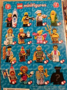 LEGO Series 17 71018 Collectible Minifigures Full Set 16 Retired Sealed Corn Guy