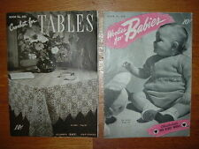 VTG. Crochet & Knitting book lot,Baby and household items to knit,crochet