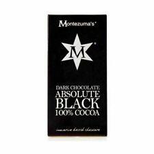Montezuma's Absolute Black 100% Cocoa Chocolate 90g - 12 pack