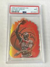 1996 Flair Showcase Michael Jordan Hot Shots #1 PSA Mint 9