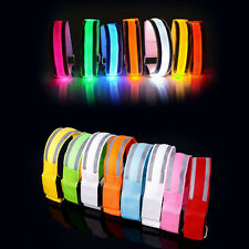 Reflective LED Light Armband Safety Belt Arm Strap For Night Cycling Running