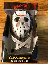 Friday The 13th Jason Voorhees 16 Oz. Pint Glass Tumbler NEW RARE COLLECTIBLE