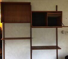Vtg Danish Modern Royal Cado Wall Unit Poul Cadovious Teak Desk Cabinet Shelves