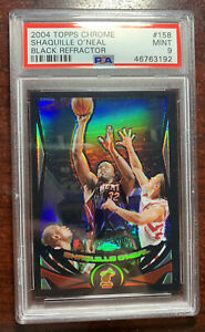 2004-05 Shaquille Oneal Topps Chrome Black Refractor #/500 PSA 9 Mint PMJS 92