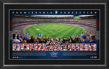 Western Bulldogs 2016 AFL Premiers Signed Panoramic Print Framed - Perfection