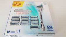 Gillette SkinGuard Sensitive Skin Shave Razor Razor Handle + 10 Blades ٌRefill