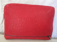 Genuine Alexander Wang pebble leather Fumo bag in red
