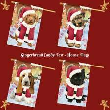 Christmas Gingerbread Candyfest Dog Cat Pet Photo Lovers Decorative House Flag