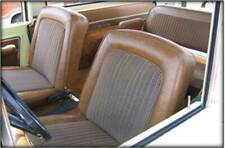 1968 -77 Ford Bronco Seat Upholstery Front/Rear, Med. Ginger & Brown Houndstooth