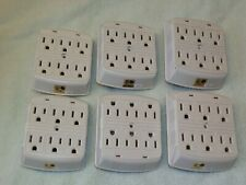 LOT OF 6 AB-14 - SURGE PROTECTOR TAP IVORY 6-OUTLET 15A 125V 1875W