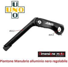 0391 - Piega/Piantone Manubrio Uno Allum. Nero Reg. x bici 26-28 Retrò Old Style