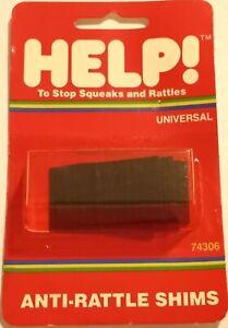 Dorman Help 74306 Universal Anti-Rattle Shim Wedges Squeak Stopper Dash Console