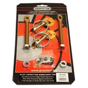 Gold Competition Motorsport Alloy Bonnet Boot Pins GE52G